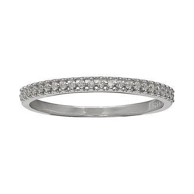 PRIMROSE Sterling Silver Cubic Zirconia Pave Band