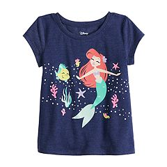 3266edadf2 Disney s The Little Mermaid Ariel Toddler Girl Graphic Tee by Jumping Beans®