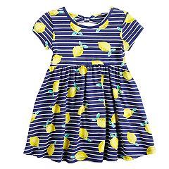 Toddler Girl Jumping Beans® Printed Bow-Back Dress