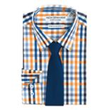 Men's Nick Graham Everywhere Modern-Fit Performance Stretch Dress Shirt and Tie Boxed Set