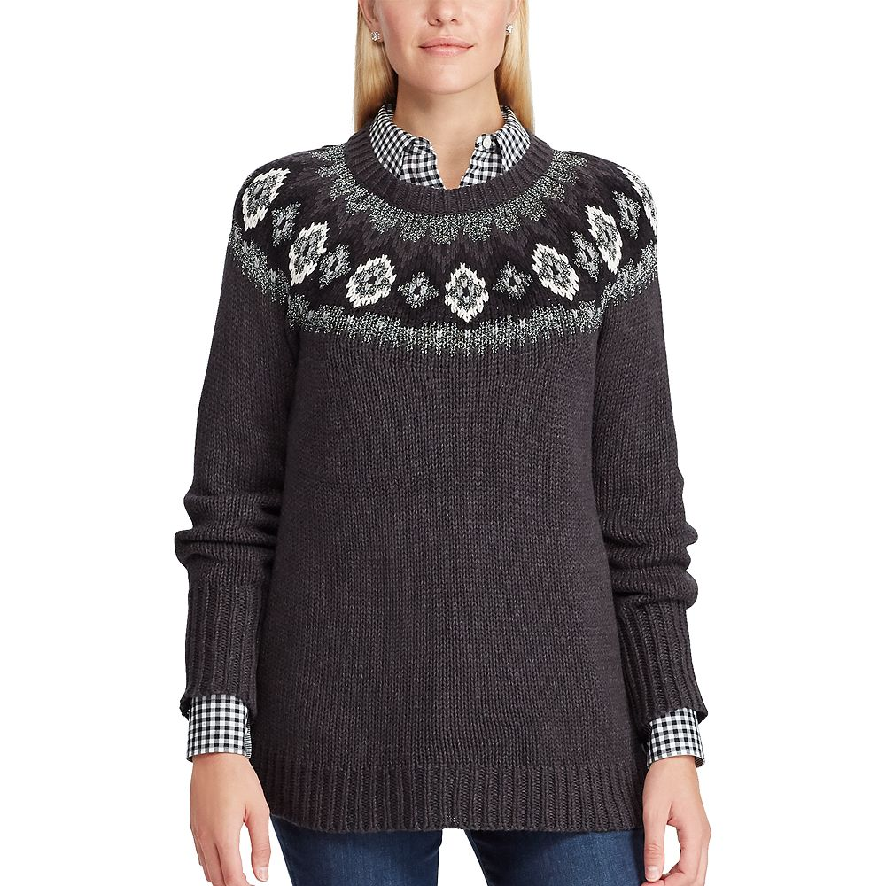 Women's Chaps Fairisle Sweater