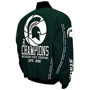 Men's Franchise Club Michigan State Spartans Commemorative Twill Jacket