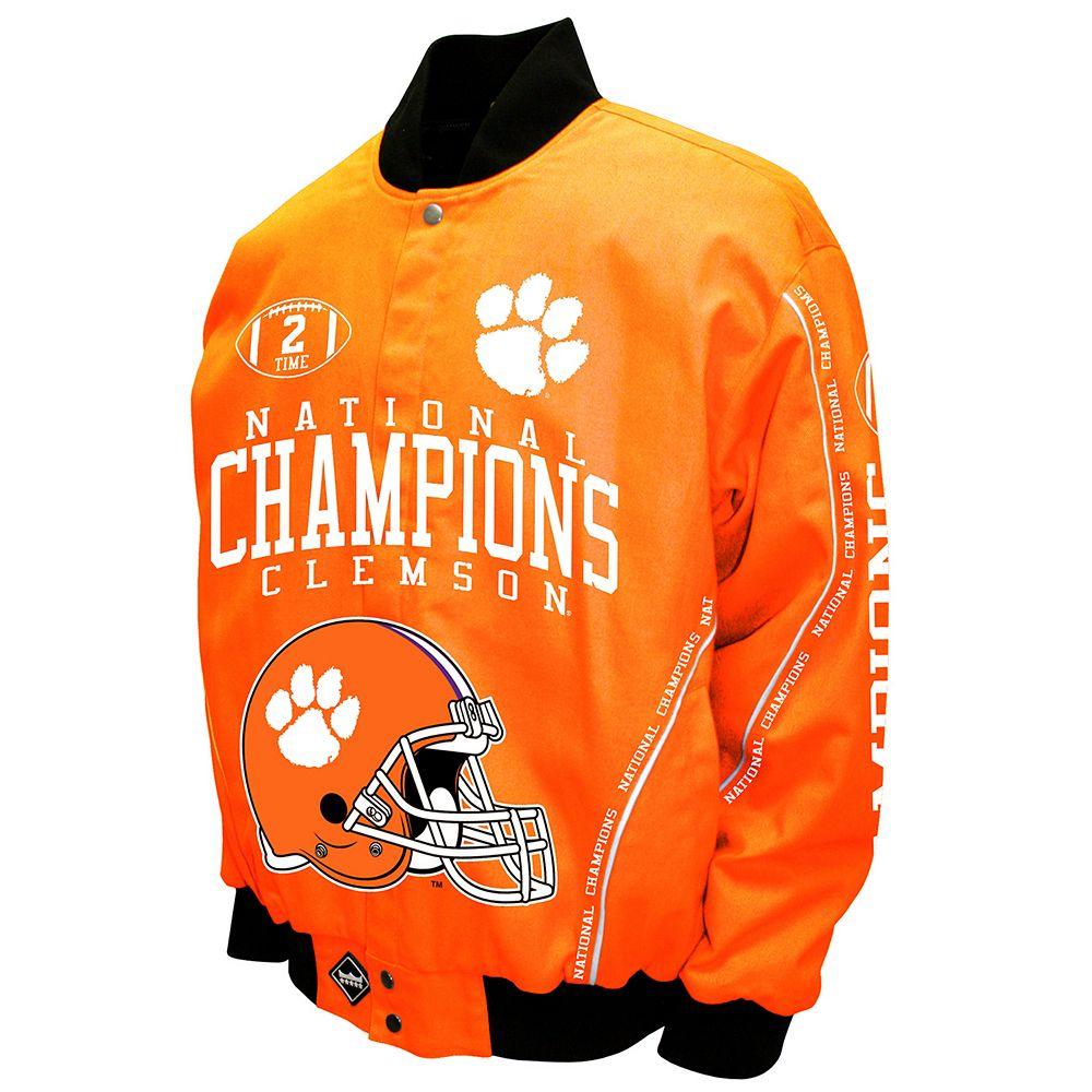 Men's Franchise Club Clemson Tigers Commemorative Twill Jacket