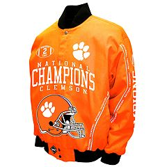 Men's Franchise Club Clemson Tigers Commemorative Twill Jacket