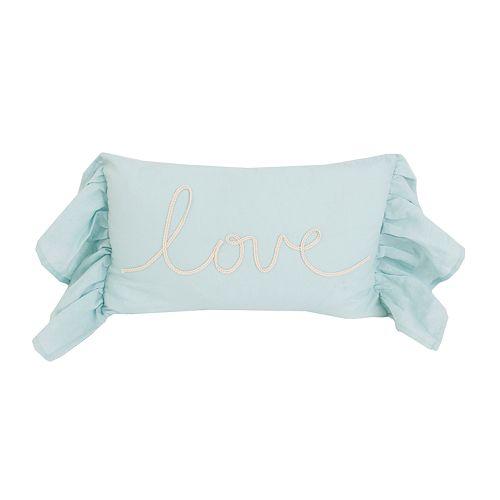Thro by Marlo Lorenz Lismond Love Script Rope Throw Pillow