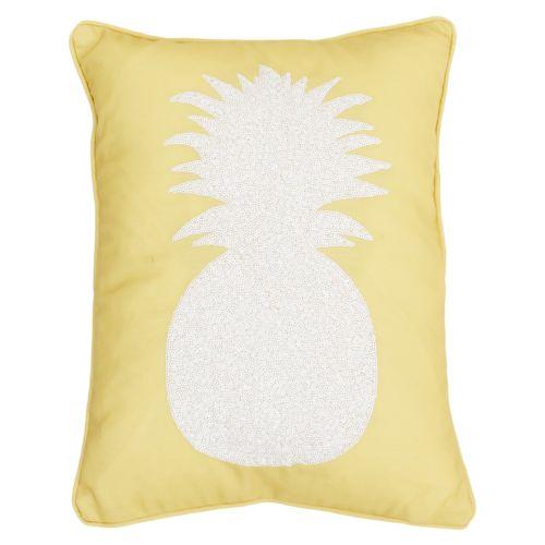Thro By Marlo Lorenz Kalea Pineapple Sequin Faux Linen Throw Pillow by Kohl's