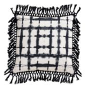 Thro by Marlo Lorenz Denver Shibori Fringe Trim Throw Pillow