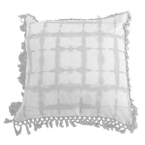 Thro by Marlo Lorenz Denver Shibori Fringe Trim Throw Pillow