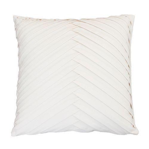 Thro by Marlo Lorenz James Pleated Velvet Throw Pillow