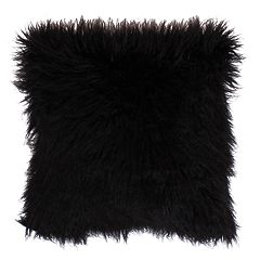 Thro by Marlo Lorenz Keller Faux Fur Mongolian Reversible Throw Pillow
