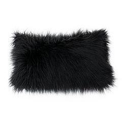 Thro by Marlo Lorenz Keller Faux Fur Mongolian Reversible Throw Pillow