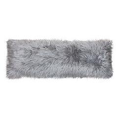 Thro by Marlo Lorenz Keller Faux Fur Mongolian Body Pillow