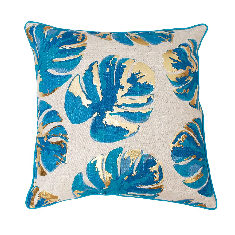 Thro by Marlo Lorenz Wallace Gold Foil Leaf Throw Pillow