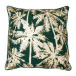 Thro by Marlo Lorenz Pokki Gold Foil Palm Tree Throw Pillow