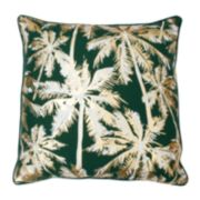 Thro by Marlo Lorenz Pokki Gold Foil Palm Tree Throw Pillow