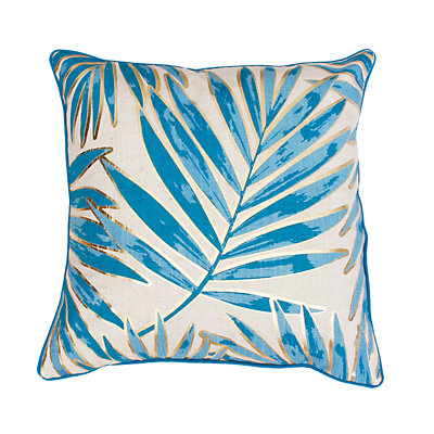 Thro by Marlo Lorenz Don Remilly Gold Foiled Leaf Throw Pillow