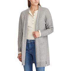 Women's Chaps Open Front Cardigan