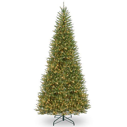 National Tree Company 12-ft. Pre-Lit Dunhill Fir Slim Artificial Christmas Tree