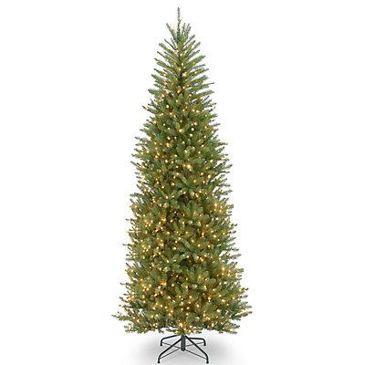 National Tree Company 10-ft. Pre-Lit Dunhill Fir Slim Artificial Christmas Tree