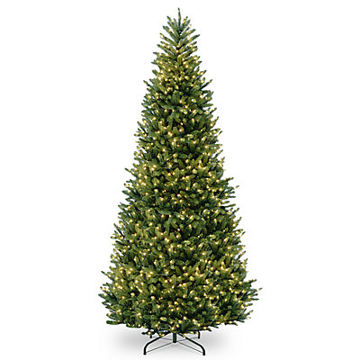 National Tree Company 12-ft. Pre-Lit Fraser Fir Slim Artificial Christmas Tree