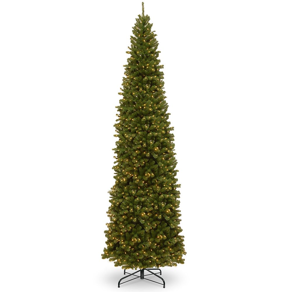 National Tree Company 12-ft. Pre-Lit North Valley Spruce Slim Artificial Christmas Tree