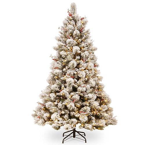National Tree Company 7.5-ft. Pre-Lit Flocked Bedford Pine Artificial Christmas Tree
