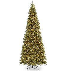 National Tree Company 12-ft. Pre-Lit Tiffany Fir Slim Artificial Christmas Tree