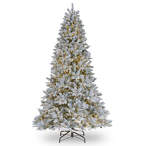 National Tree Company 7.5-ft. LED Flocked Iceland Fir Artificial Christmas Tree