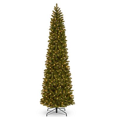 National Tree Company 12-ft. Pre-Lit Douglas Fir Slim Artificial Christmas Tree