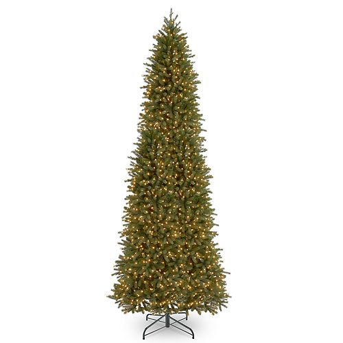 National Tree Company 12-ft. Pre-Lit Fraser Fir Slim ...