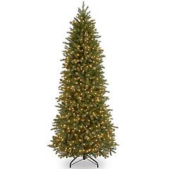 National Tree Company 10-ft. Pre-Lit Fraser Fir Slim Artificial Christmas Tree