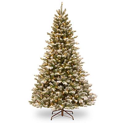 National Tree Company 7.5-ft. Flocked LED Sheffield Spruce Artificial Christmas Tree