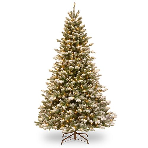 National Tree Company 7.5-ft. Flocked LED Sheffield Spruce Artificial Christmas Tree