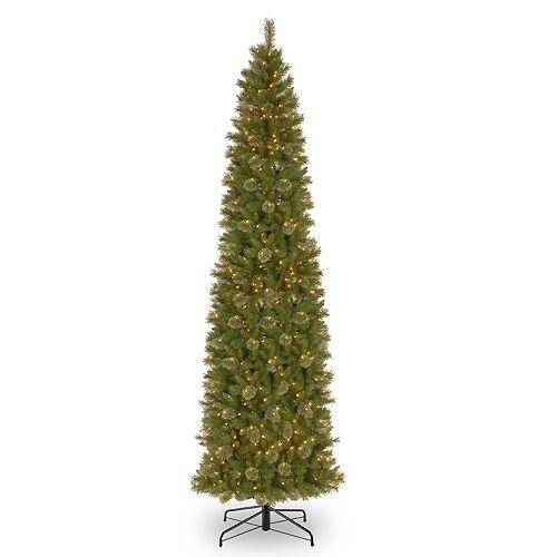 National Tree Company 12-ft. Pre-Lit Tacoma Pine Slim Artificial Christmas Tree