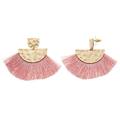SONOMA Goods for Life? Pink Fringe Nickel Free Drop Earrings