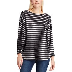 Women's Chaps Striped Lace-Up Top