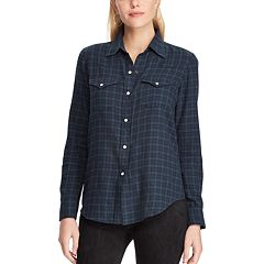 Women's Chaps Plaid Western Shirt