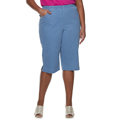 Plus Size Croft & Barrow® Pull On Stretch Denim Capris