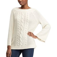 Women's Chaps Cable-Knit Bell Sleve Sweater