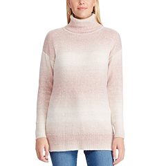 Women's Chaps Ombre-Stripe Turtleneck Sweater