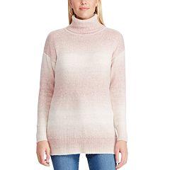 Women's Chaps Ombre-Stripe Turtleneck Sweater