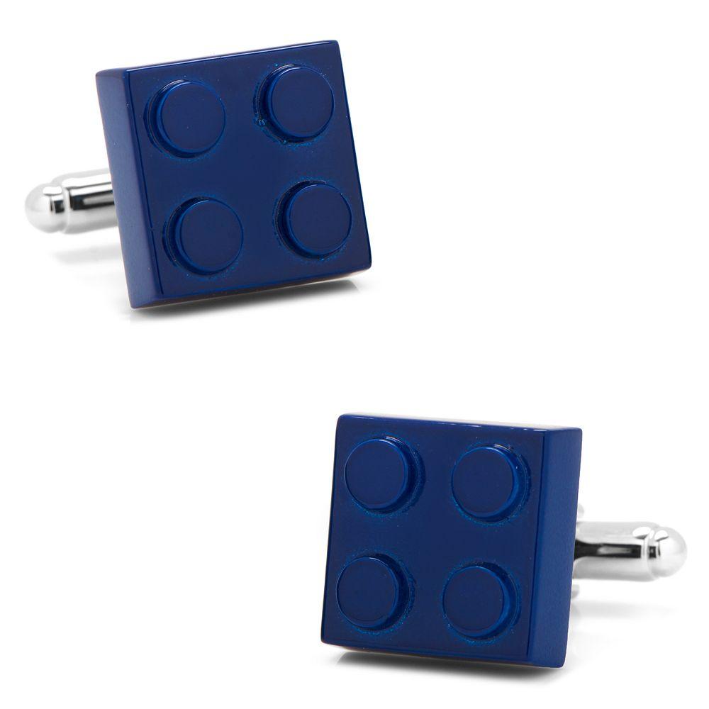 Men's CufflinksInc Blue Building Block Cuff Links