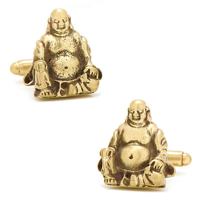 Men's CufflinksInc Smiling Buddha Cuff Links