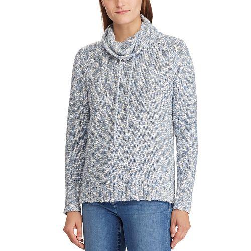 Women's Chaps Marled Funnelneck Sweater