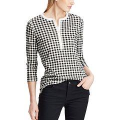 Women's Chaps Waffle-Knit Henley Top
