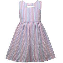 Girls 4-6x Bonnie Jean Seersucker Striped Dress