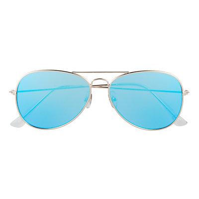 Men's Apt. 9® Gold Aviator Mirror Sunglasses
