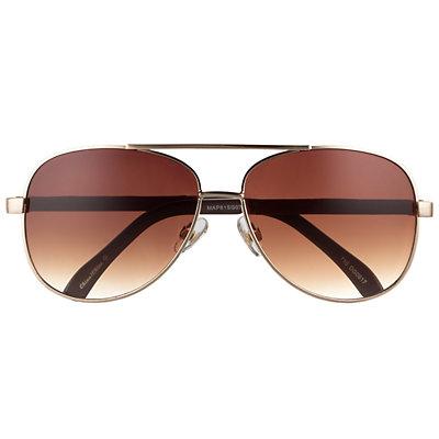 Men's Apt. 9® Brown Gradient Gold Aviator Sunglasses