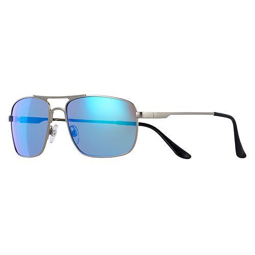 Men's Apt. 9® Teal Blue Silver Navigator Sunglasses