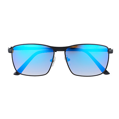 Men's Apt. 9® Matte Black Blue Mirror Sunglasses
